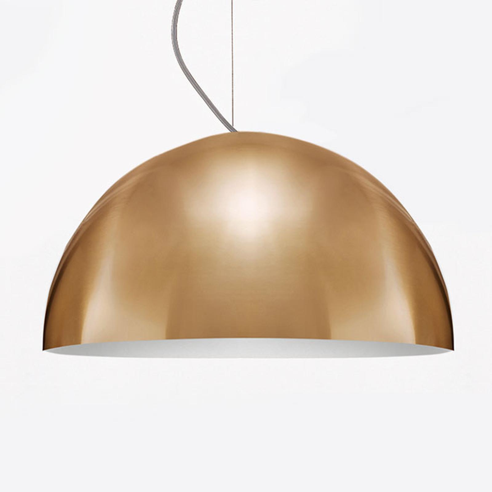 Oluce Sonora - goudkleurige hanglamp, 50 cm