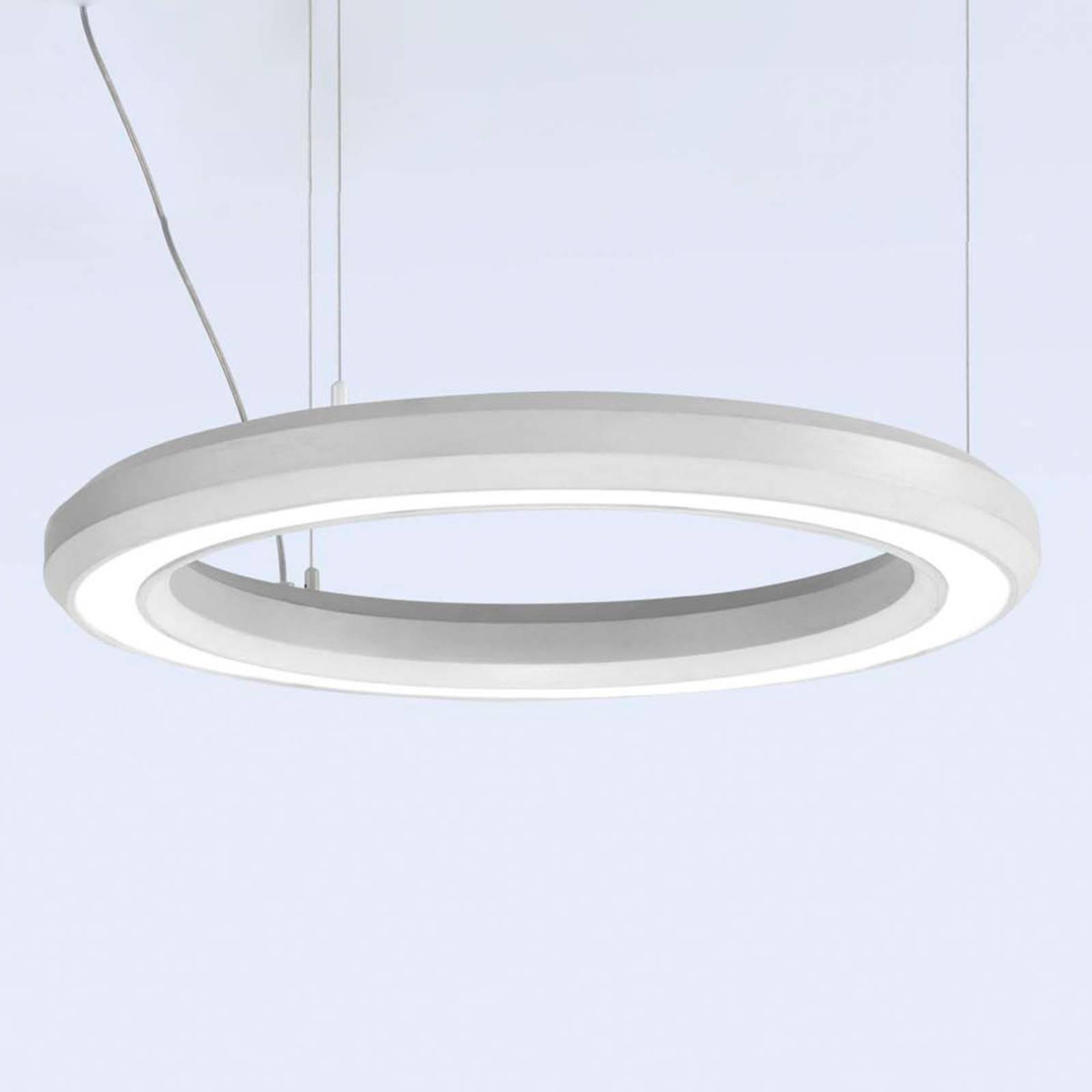 LED hanglamp Materica onder Ø 60 cm wit