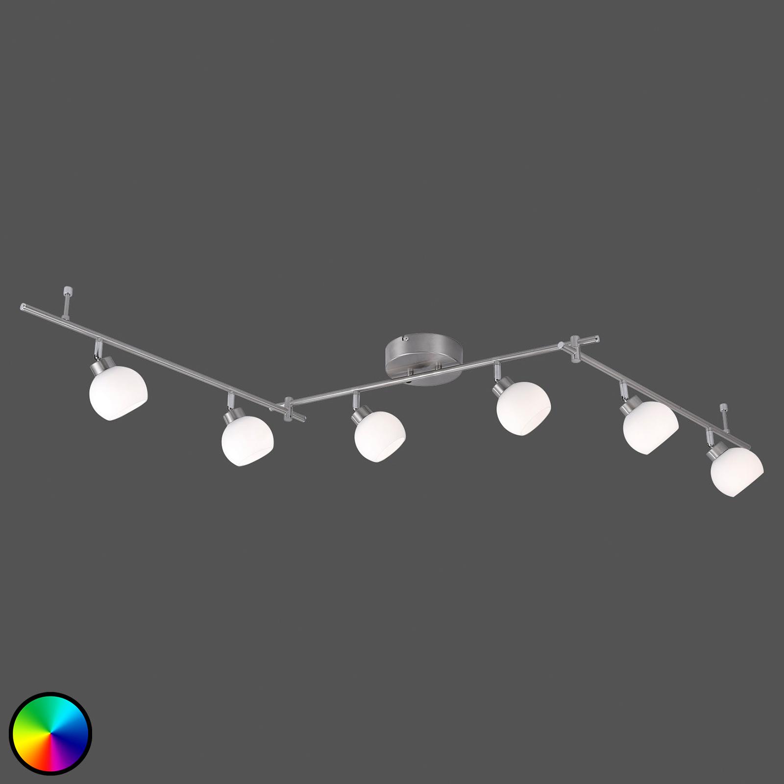 LED-Deckenleuchte Yaeka 6-flammig, Fernbedienung