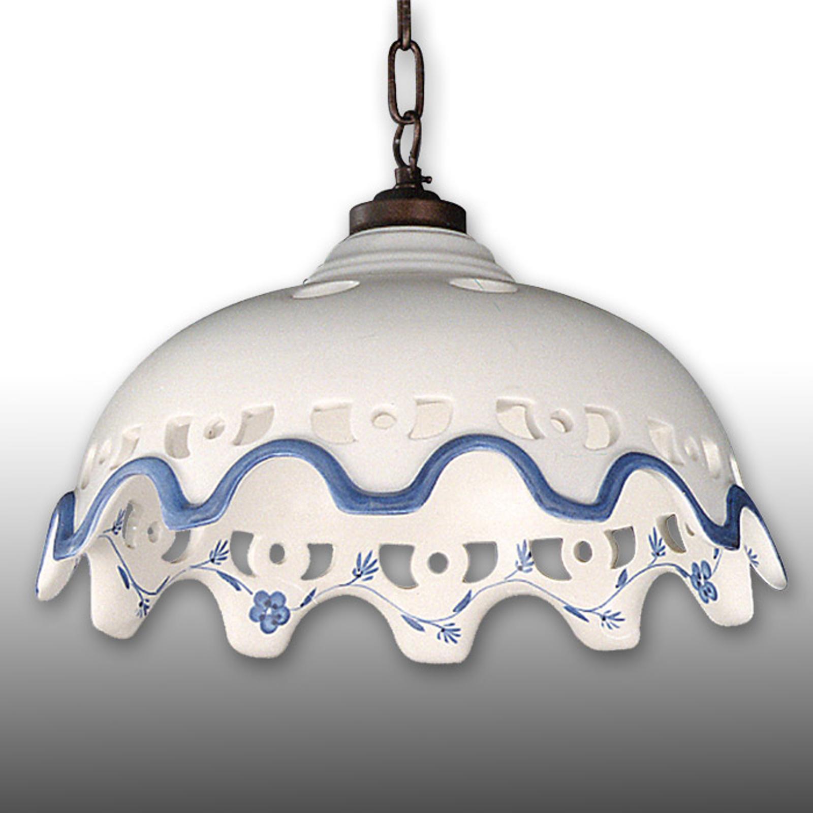 Keramická závesná lampa Chantal reťazové zavesenie