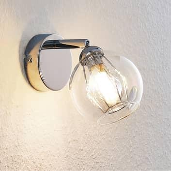Lindby Pranas LED-Wandspot mit Glasschirm