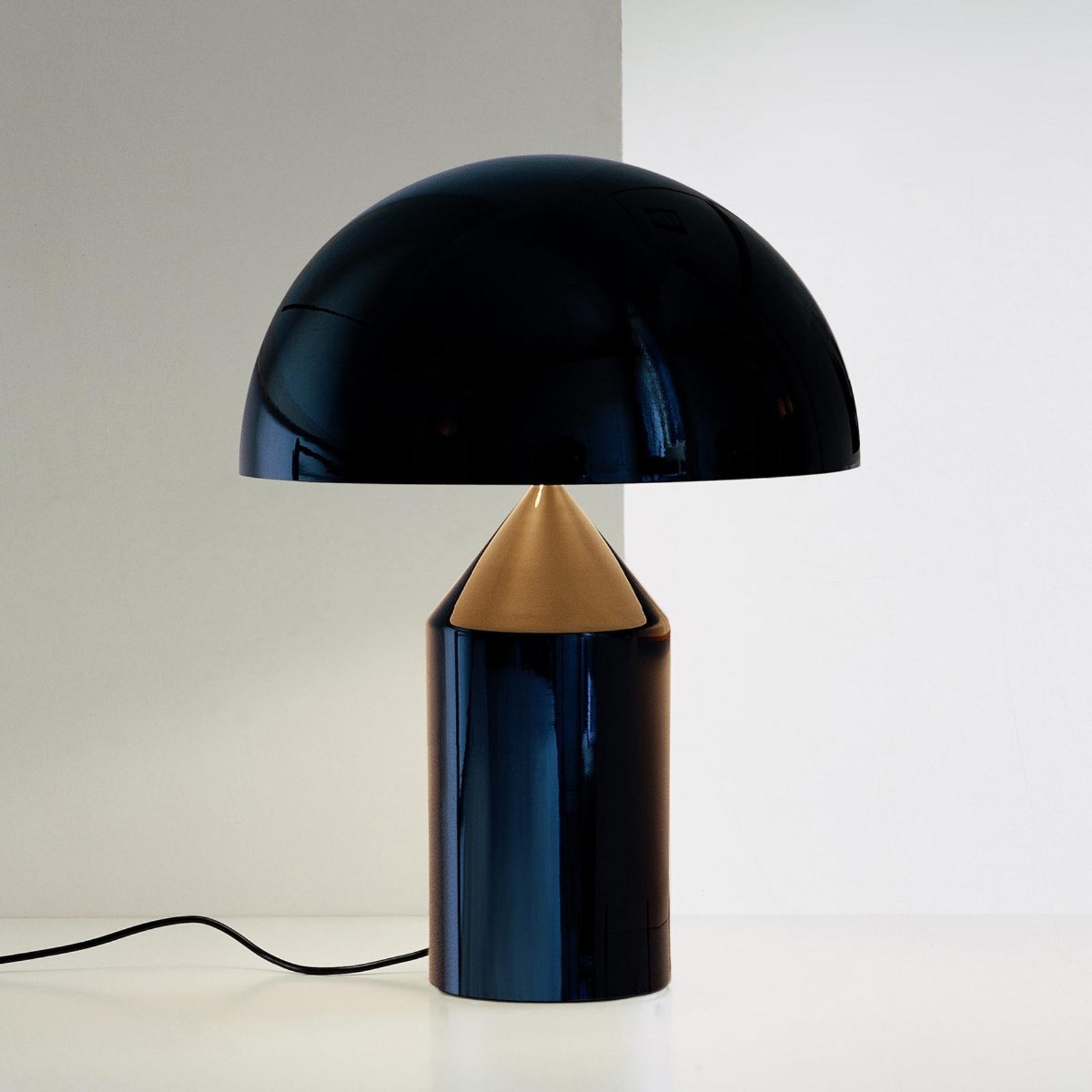 Oluce Atollo - tafellamp met dimmer, zwart