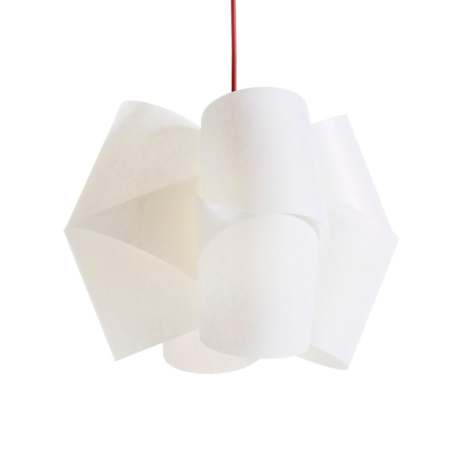Lámpara colgante Julii, blanco-rojo, Ø 36 cm