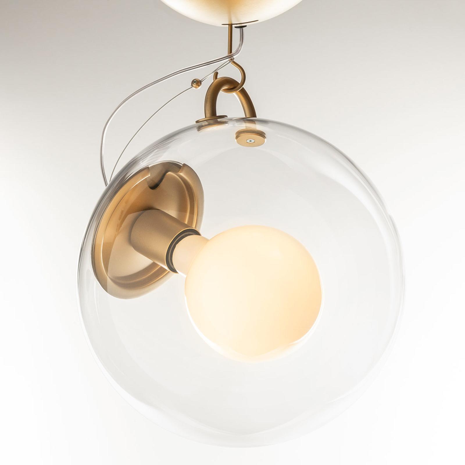 Artemide Miconos taklampe i glass og messing