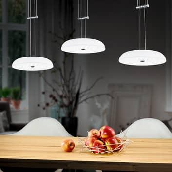 BANKAMP Vanity hængelampe, 3 lyskilder, mat nikkel