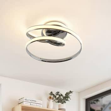 Lucande Sakina LED stropní světlo, chrom