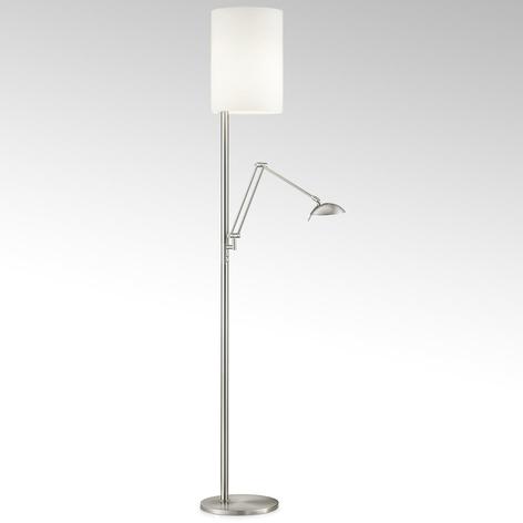 Stojací lampa LED Nola nikl matný