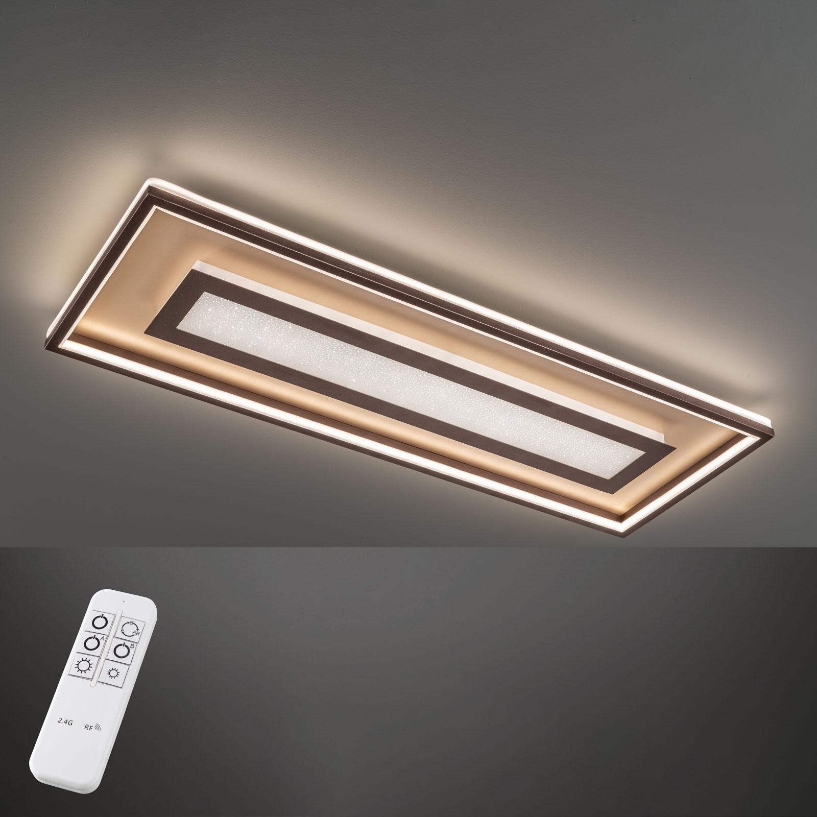 Lampa sufitowa LED Bug prostokątna 110x40 cm, rdza