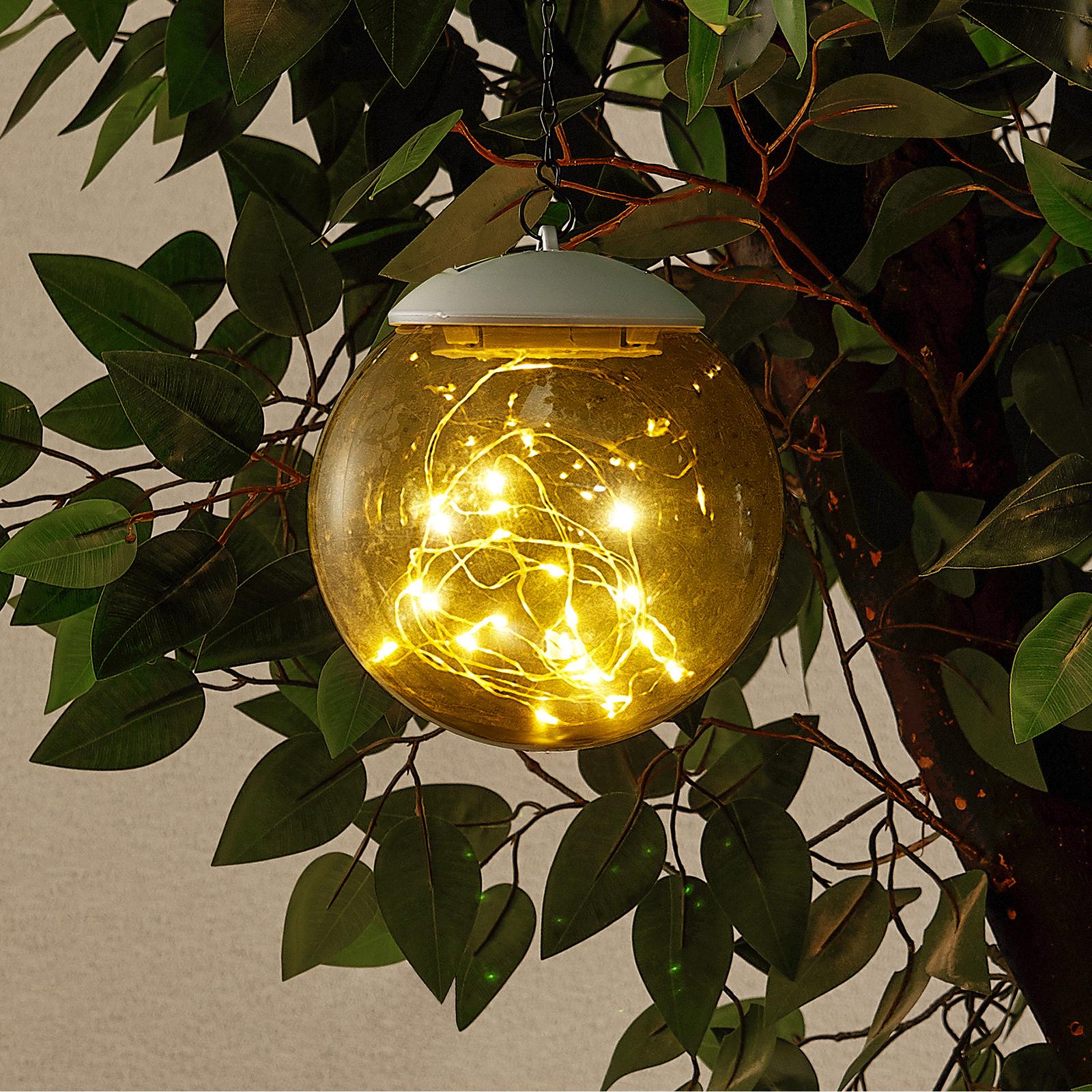 Lindby Tjelle LED-Solar-Hängeleuchte, Kugel