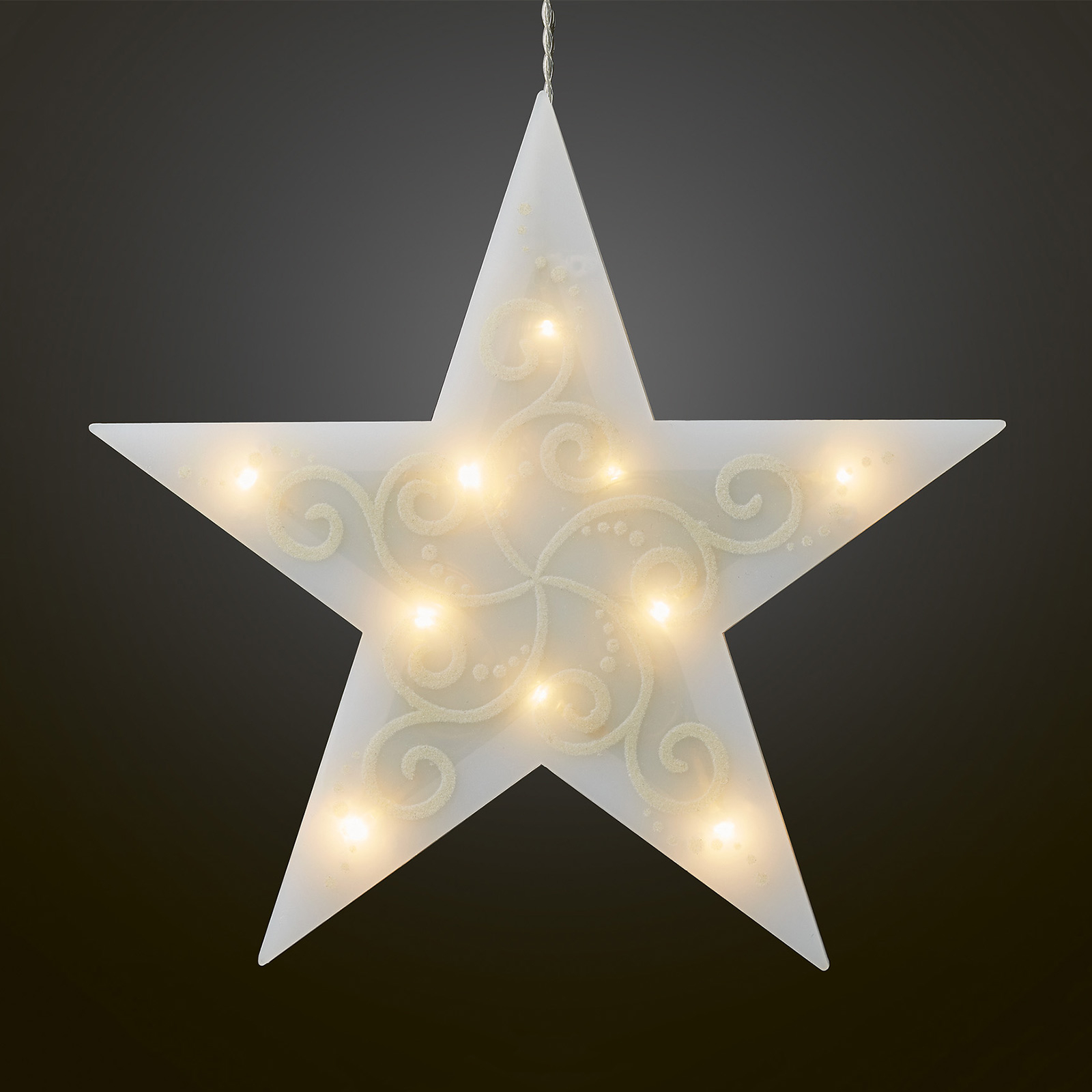 LED decorative star 5-pointed, white string lights_4523568_1