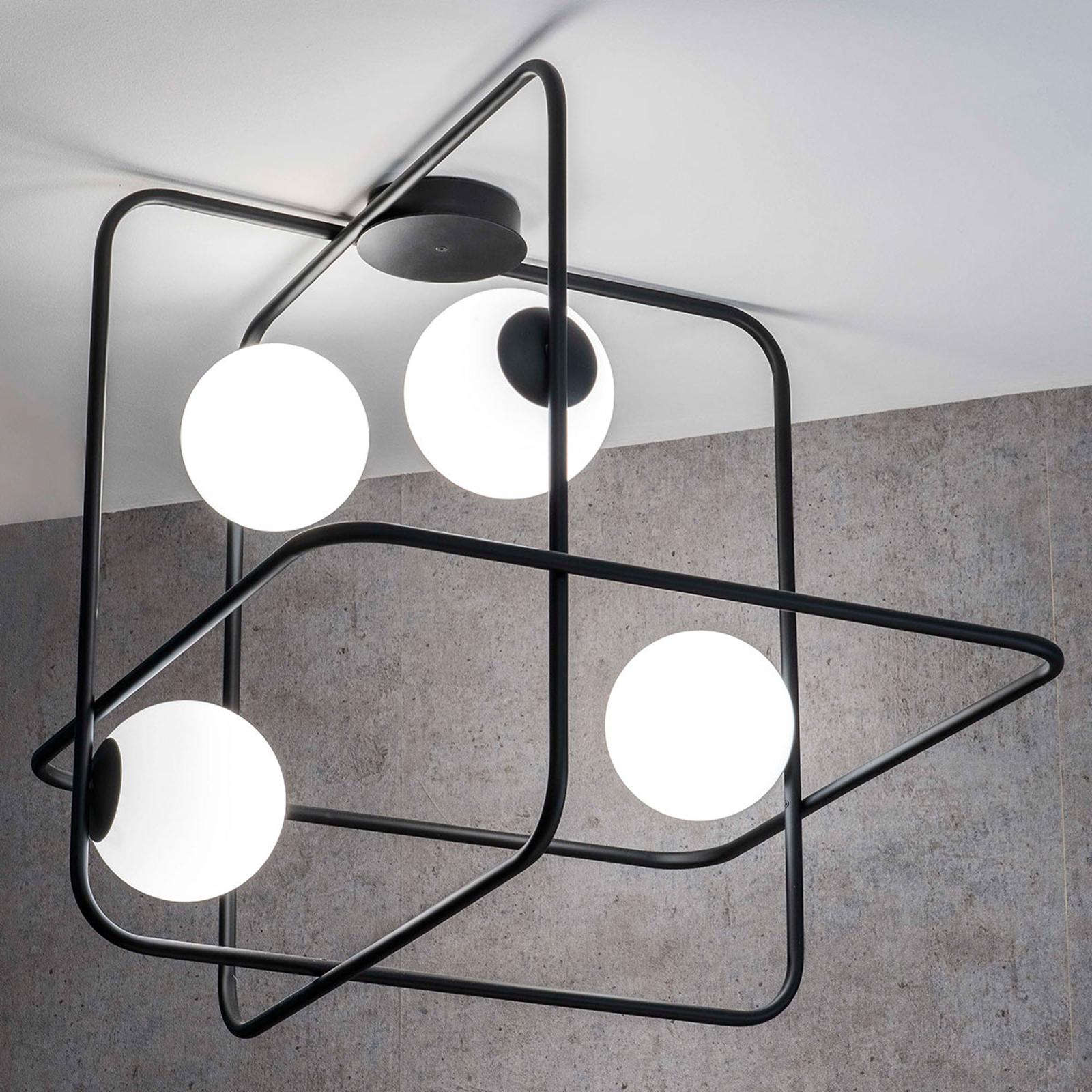 Lampa sufitowa Intrigo kwadratowa czarna