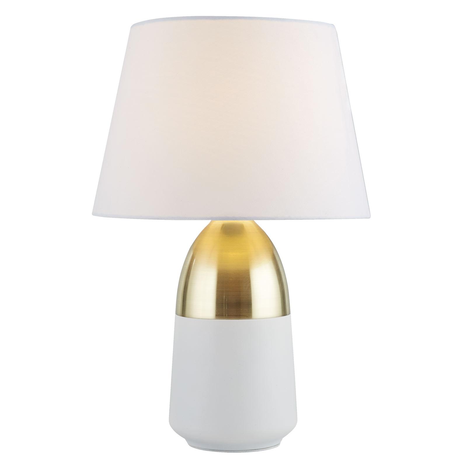 Lampa stołowa EU700340 szlachetna biel/mosiądz