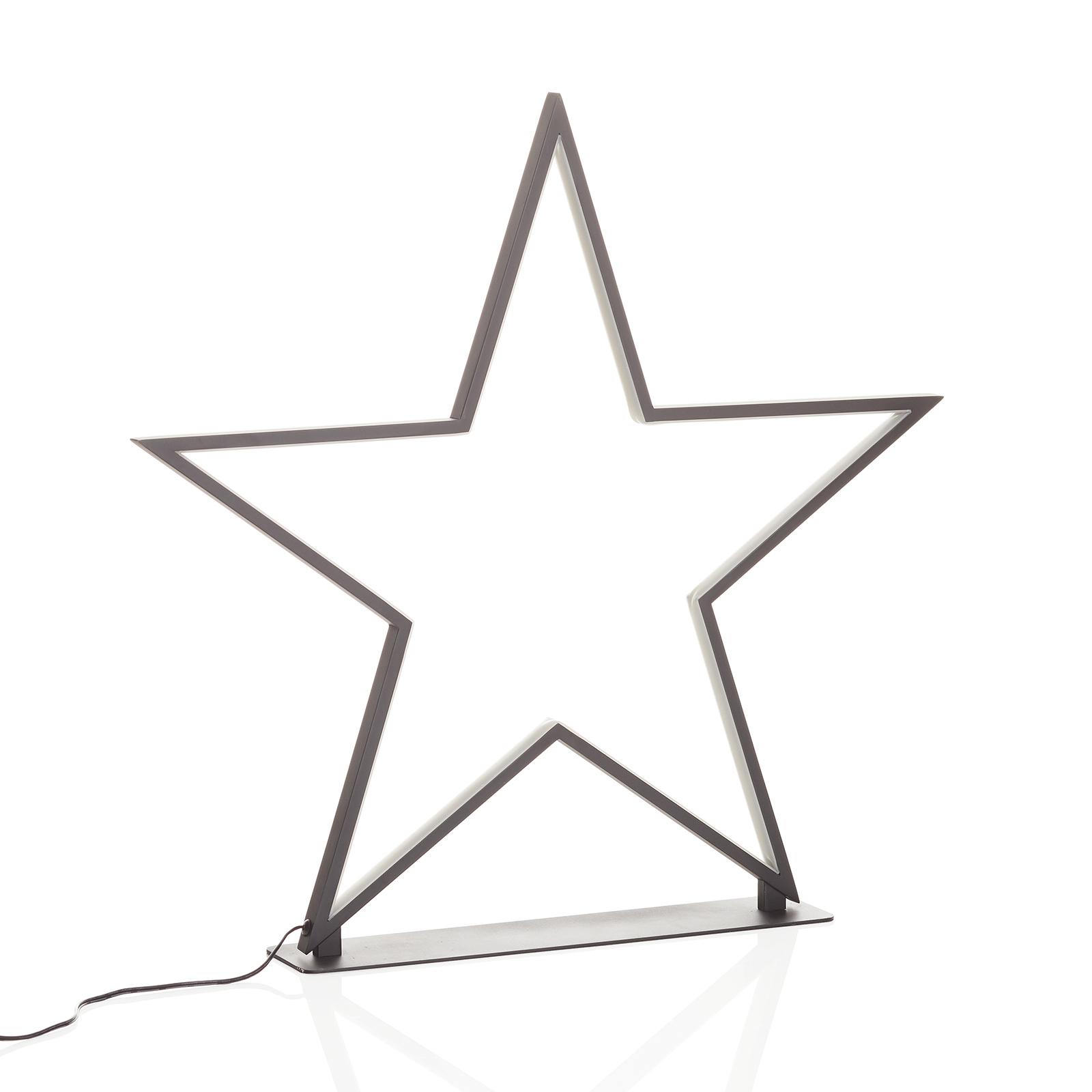 Schwarzer Aluminium-Stern Lucy Höhe 50 cm