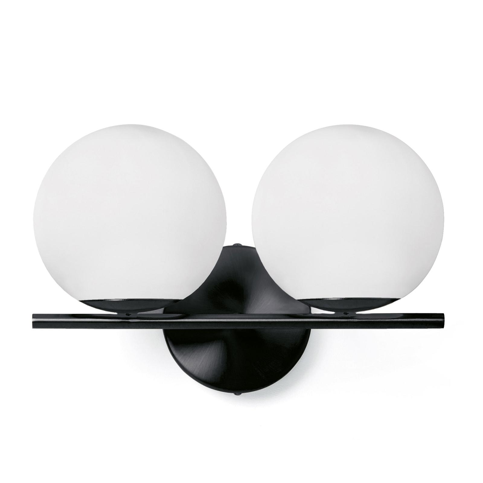 Jugen væglampe, sort/hvid, 2 lyskilder