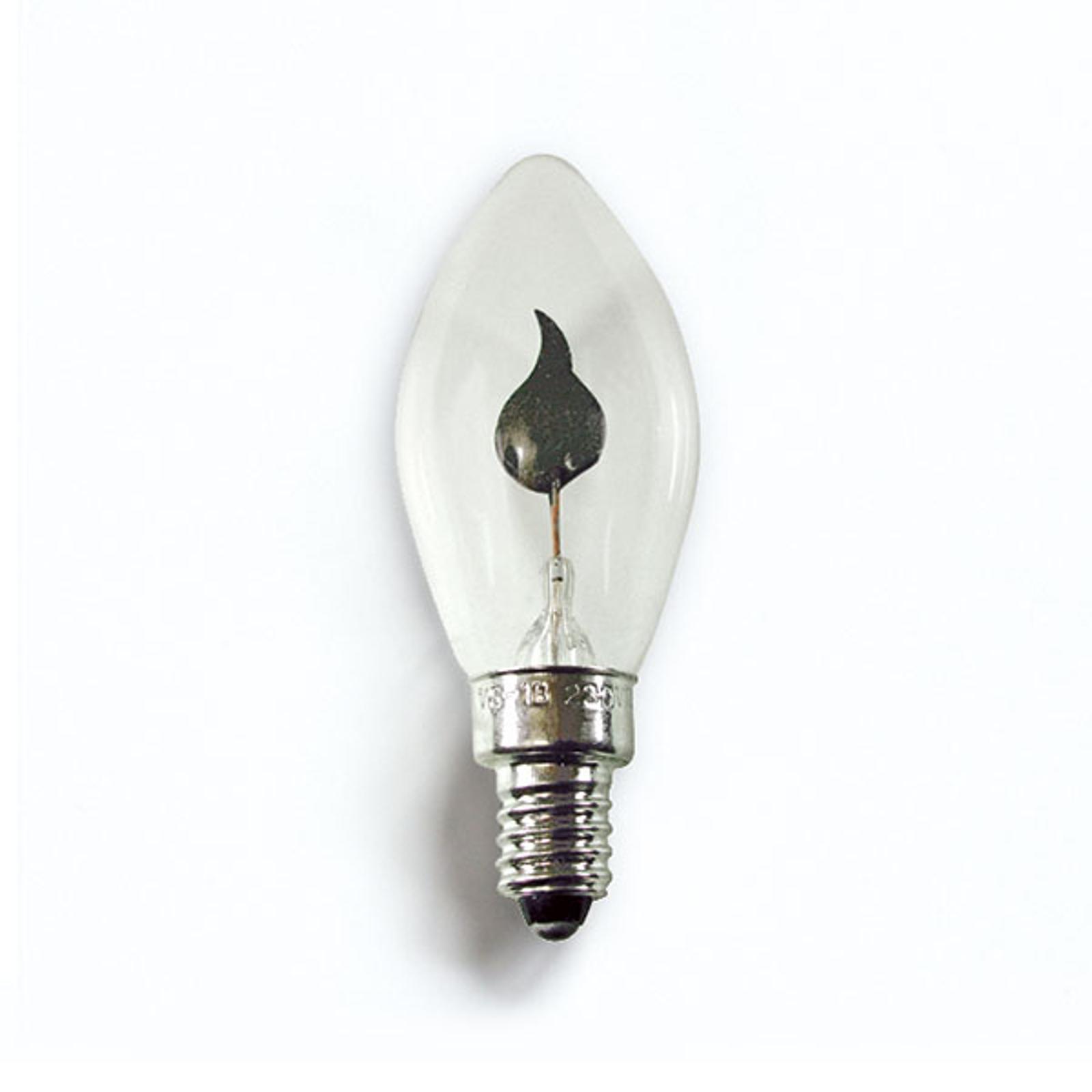 E10 1,5W 230V reservlampor 2-pack fladdrande ljus