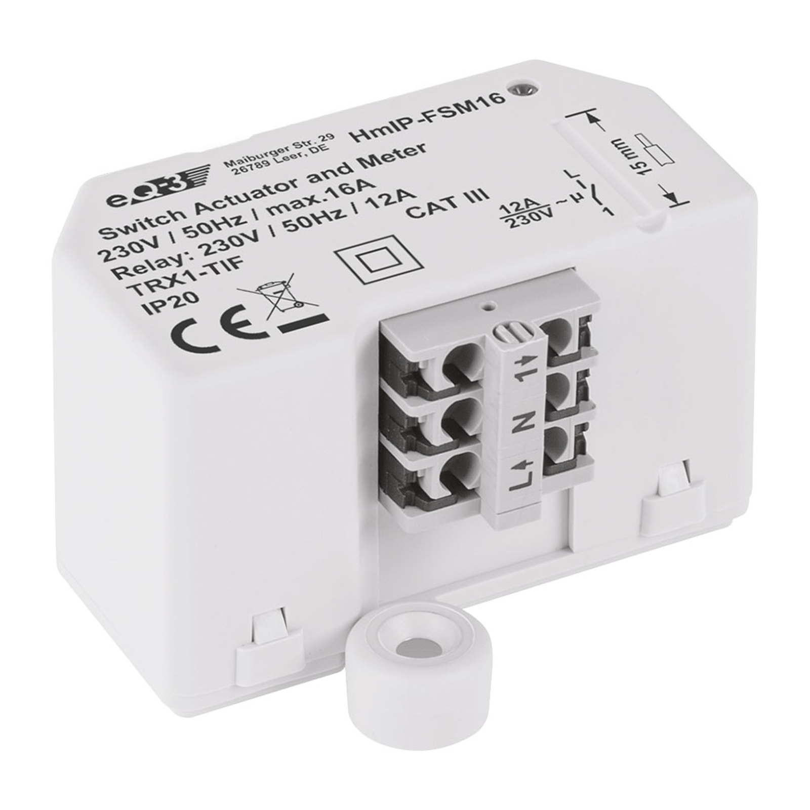 Homematic IP actionneur commutation max 16 A