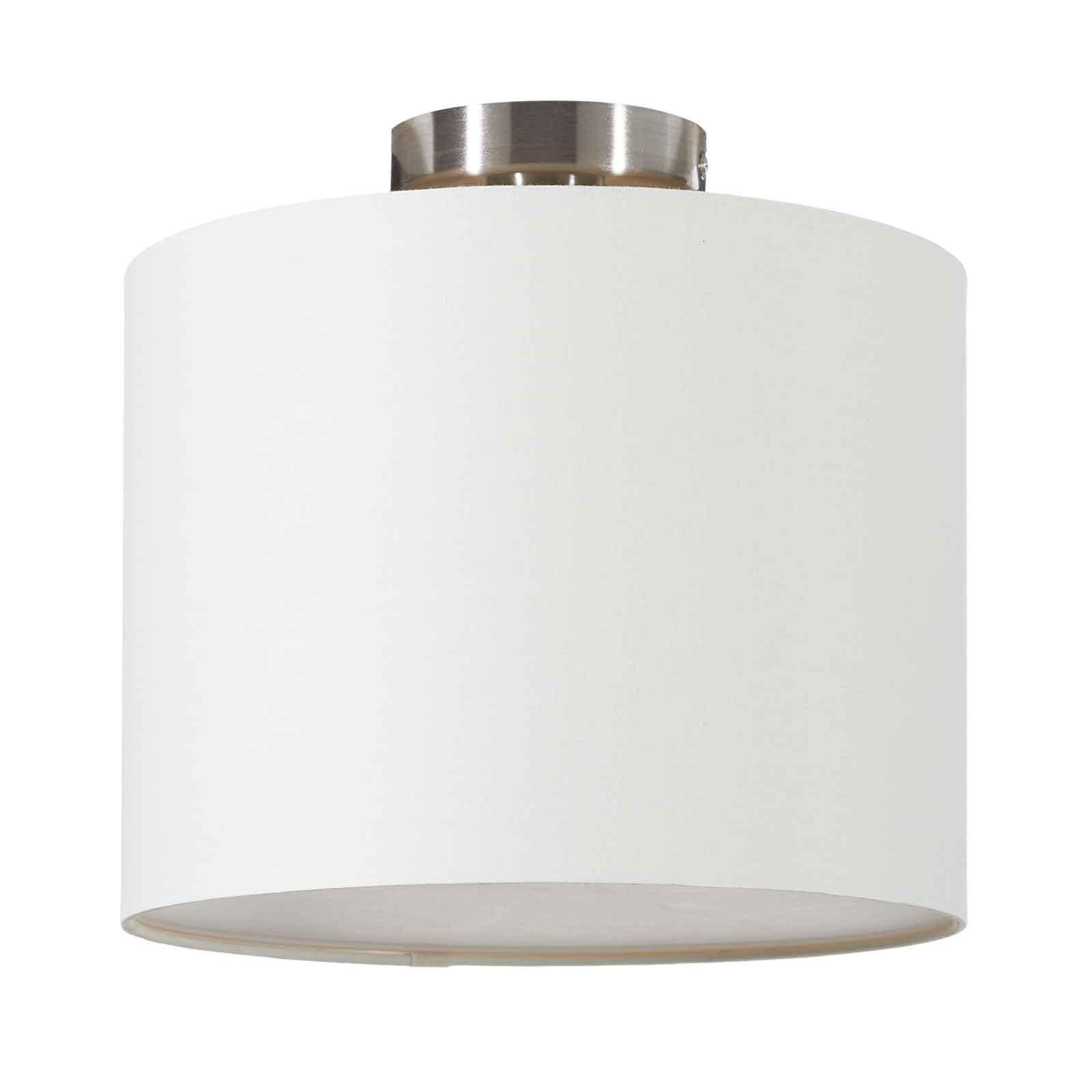 Lucande Patrik textiel-plafondlamp Ø30cm crème
