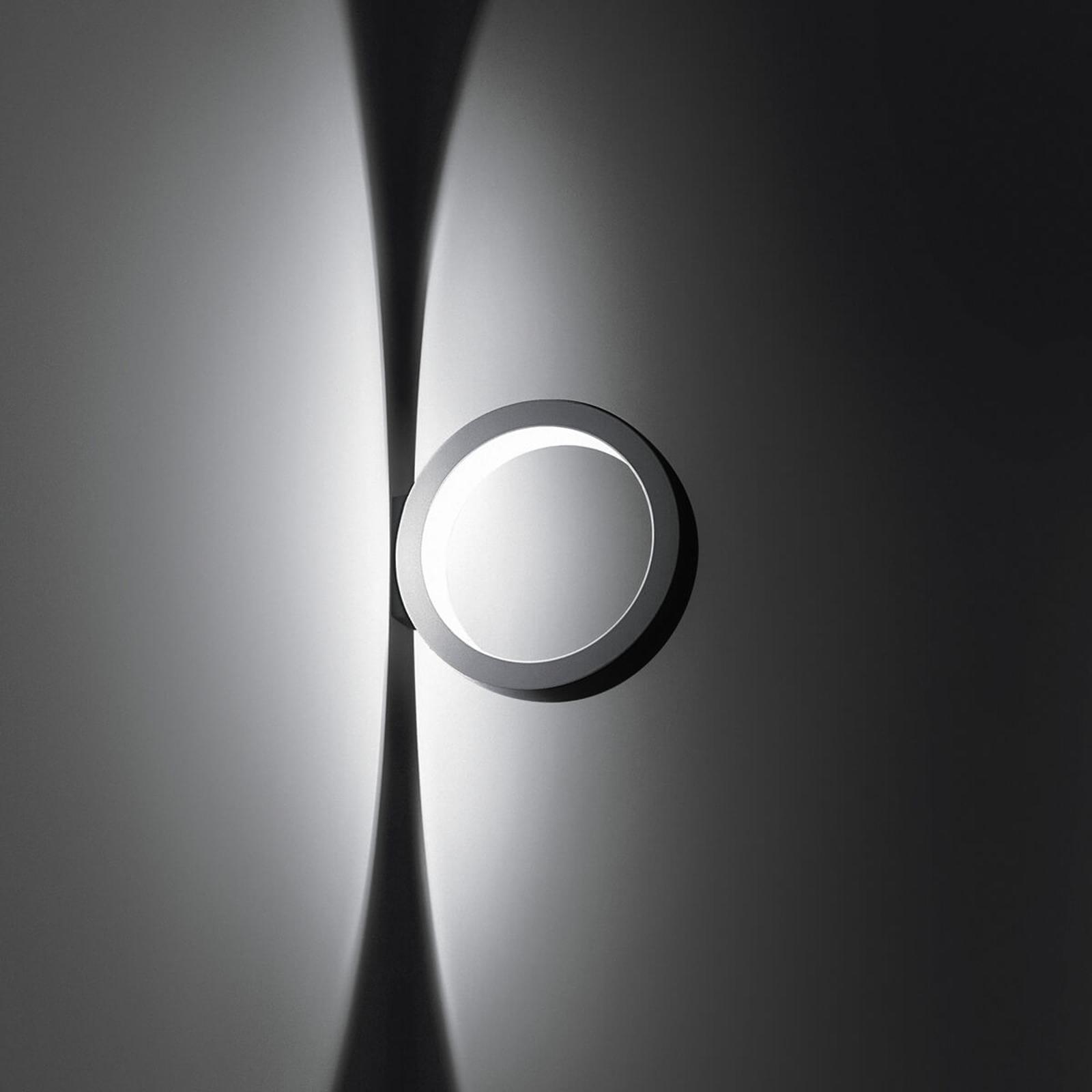 Rund designvägglampa Assolo med dimbara LED-ljus