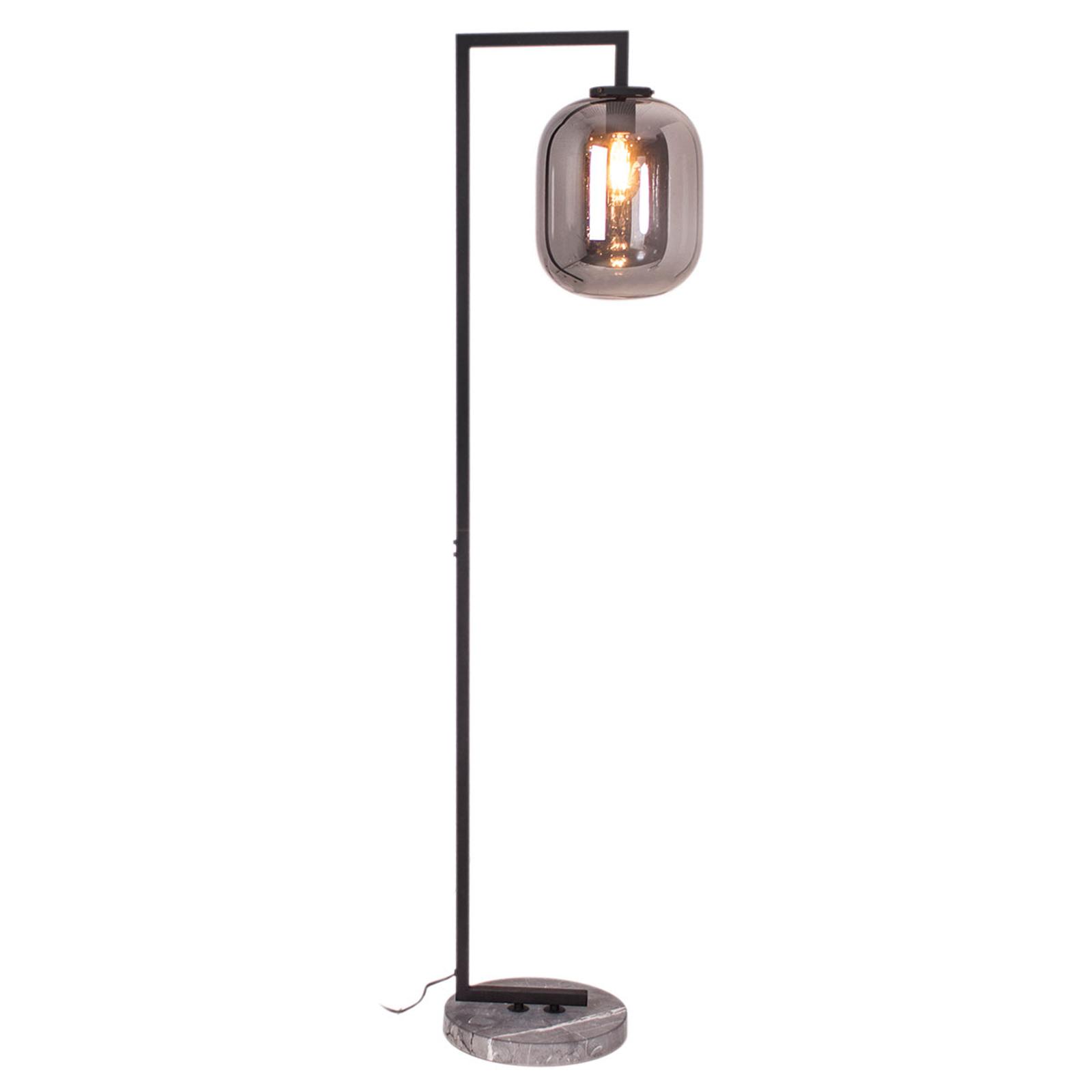 By Rydéns Leola glas-vloerlamp in rookgrijs