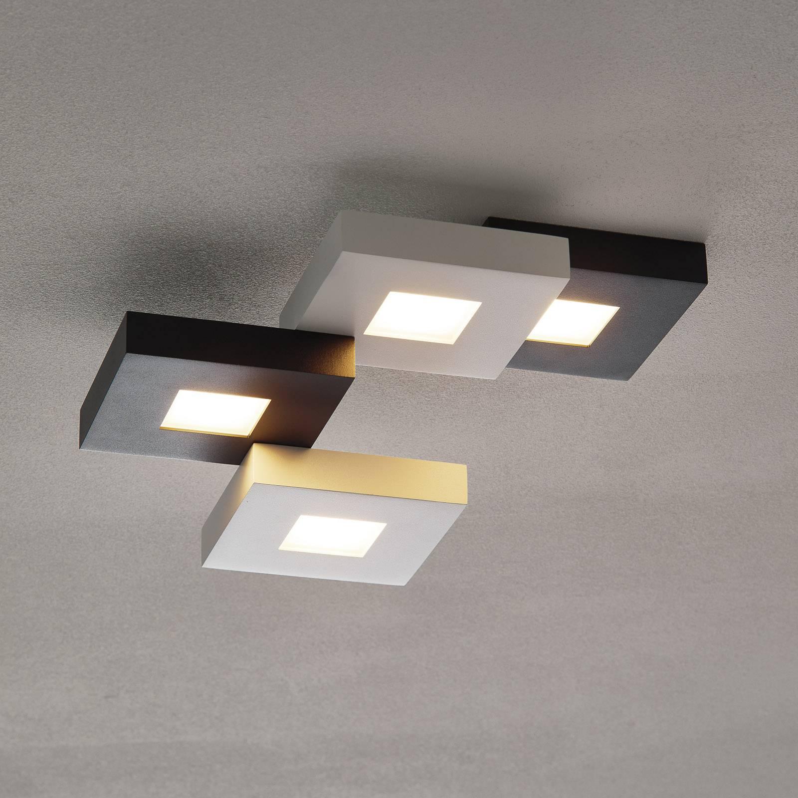 Cubus - LED-plafondlamp in zwart-wit, 4-l.