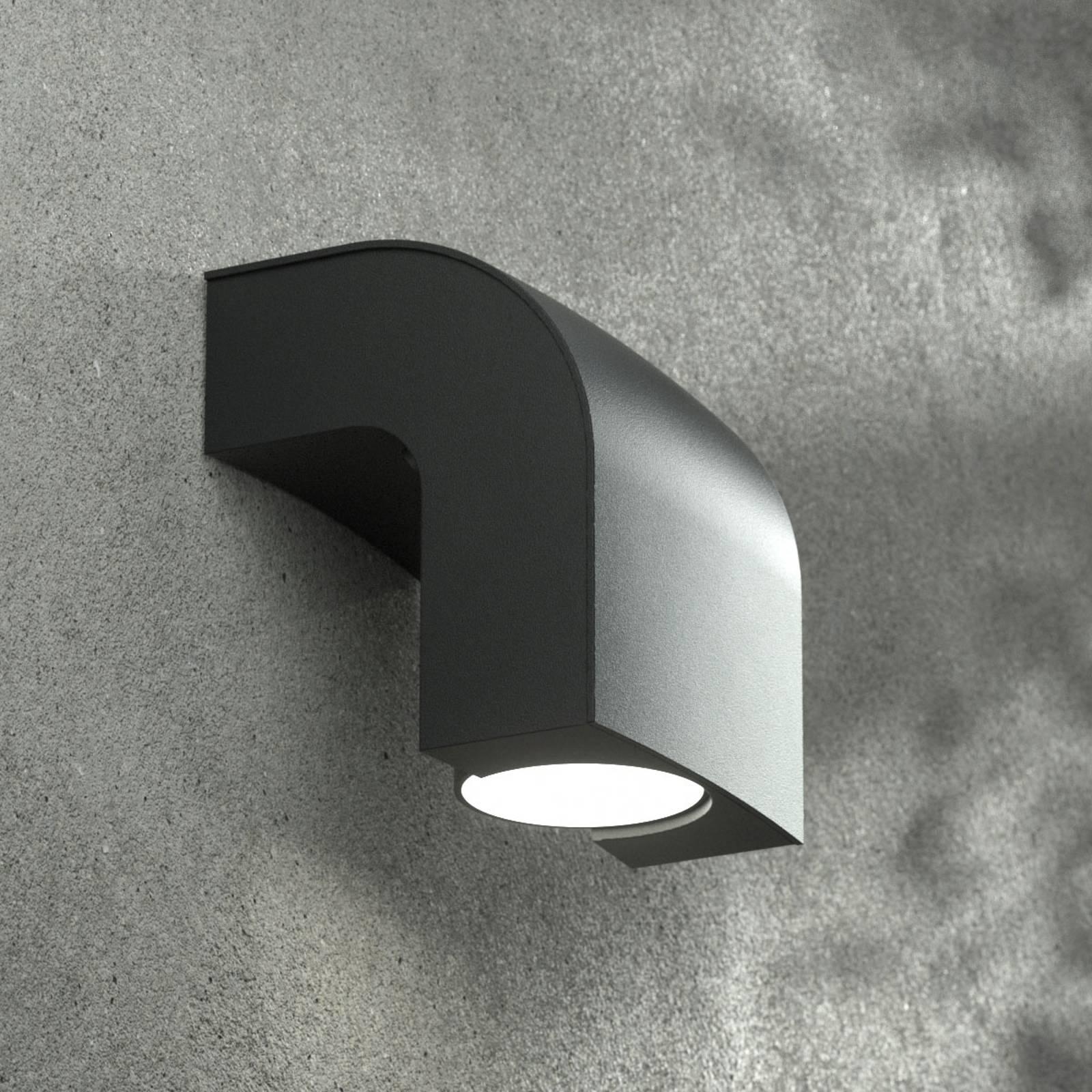 Buitenwandlamp KLAMP, hoogte 13 cm, 1-lamp