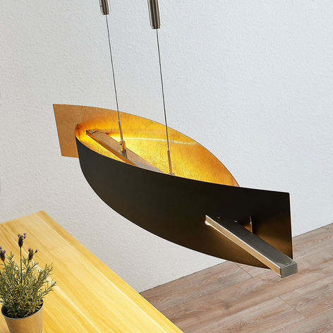 Lámpara colgante LED Marija, vertical, negro