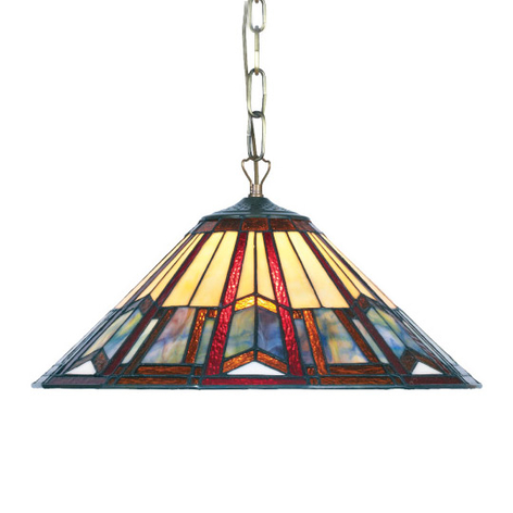 Lámpara colgante Lillie en estilo Tiffany 2 x E27