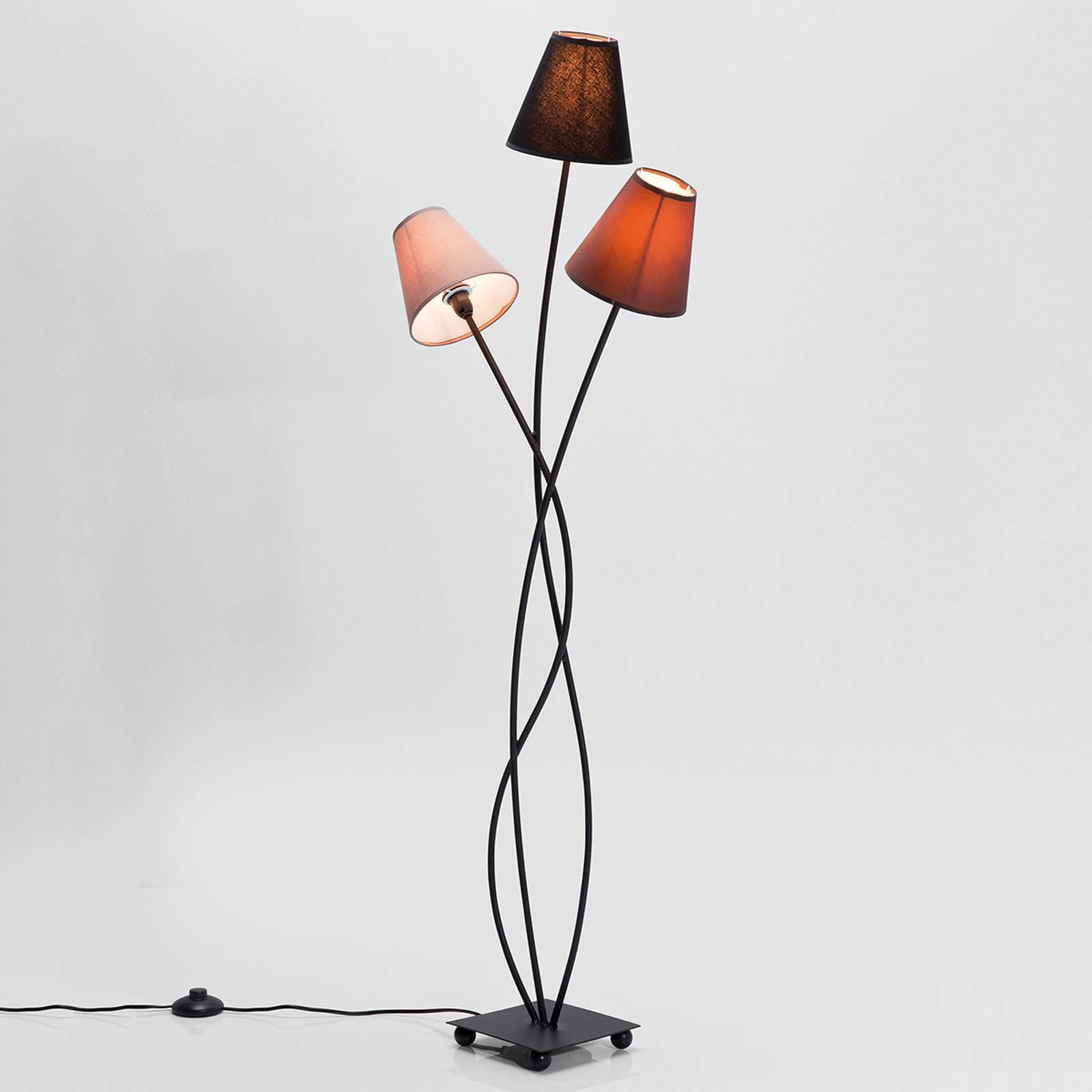 KARE Flexibele Mokka Tre vloerlamp drie lampjes