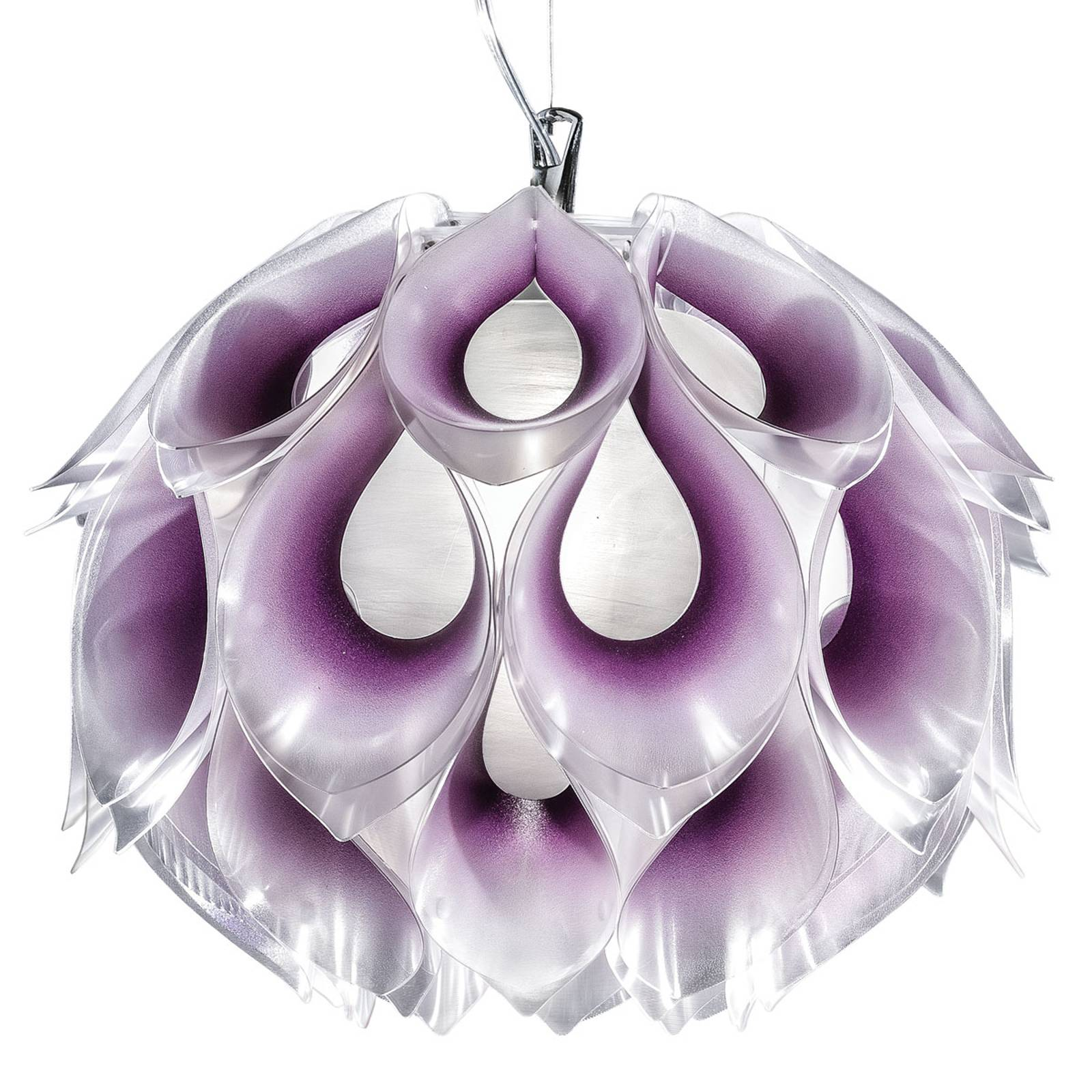 Suspension chatoyante Flora M, mauve