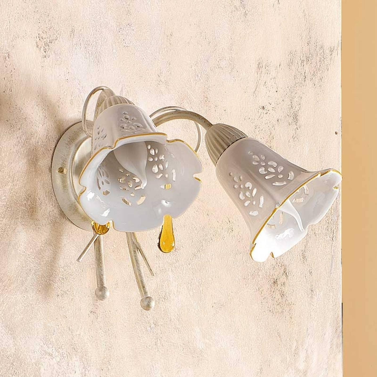 2-lichts wandlamp GOCCE