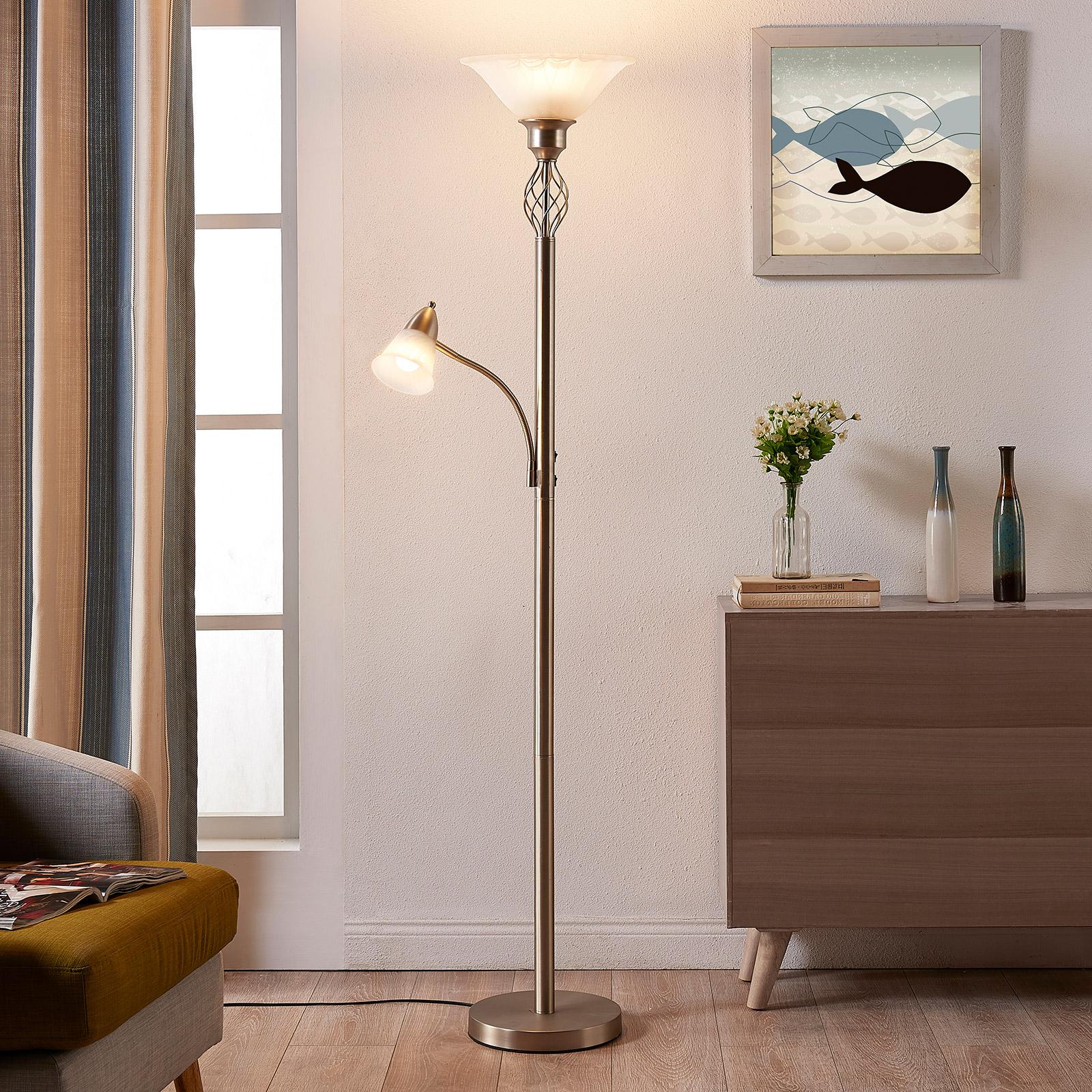 Lampa stojąca LED Dunja, nikiel