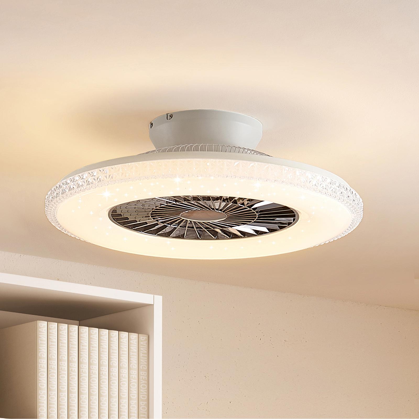 Lindby Ordanio LED stropní ventilátor se světlem