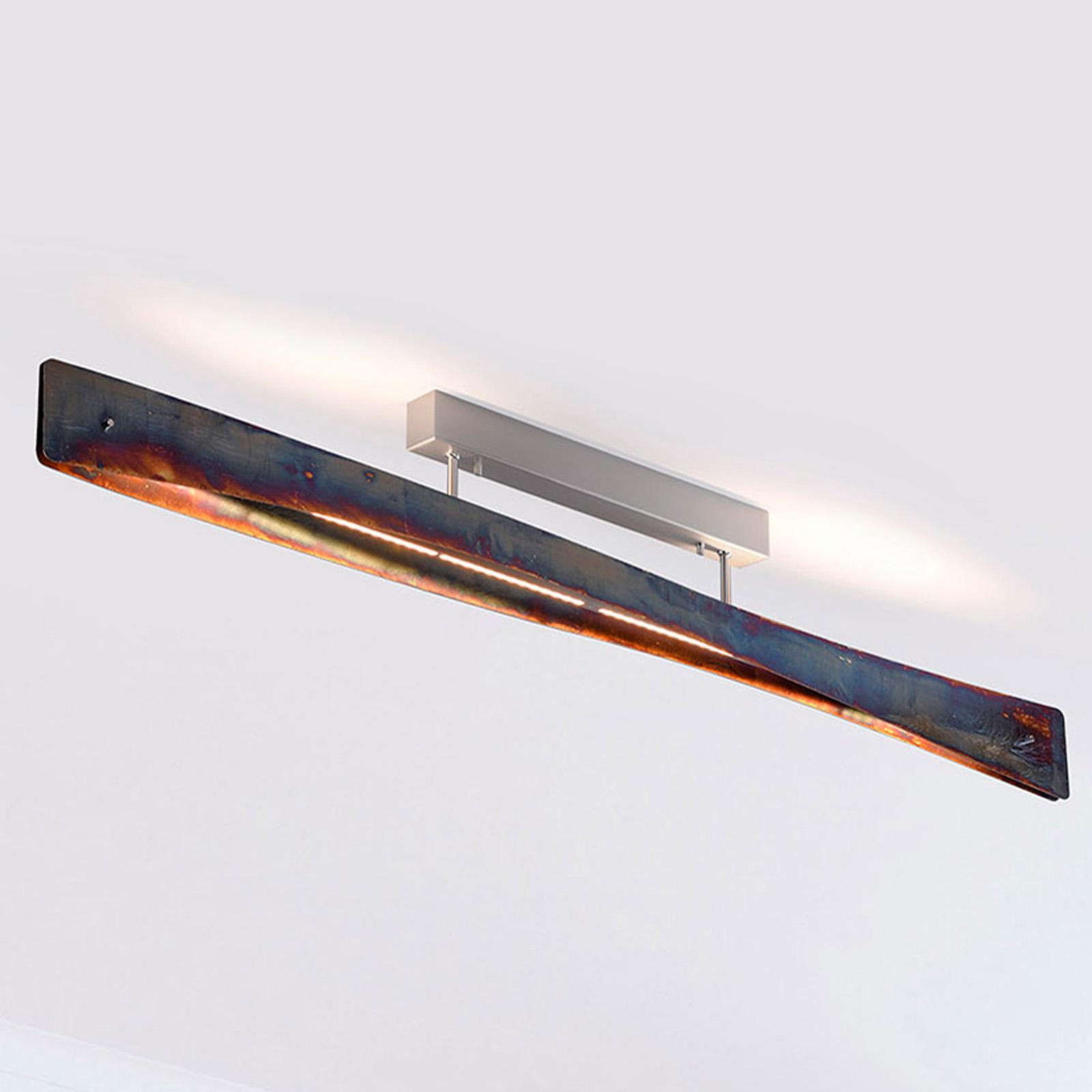 Lucande Lian plafonnier LED, doré oxydé