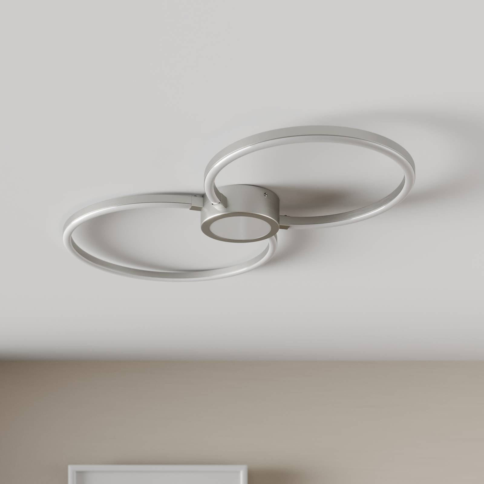 LED plafondlamp Duetto, rondjes