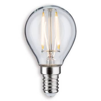 Paulmann LED žárovka kapka E14 2,6W 827 čirá