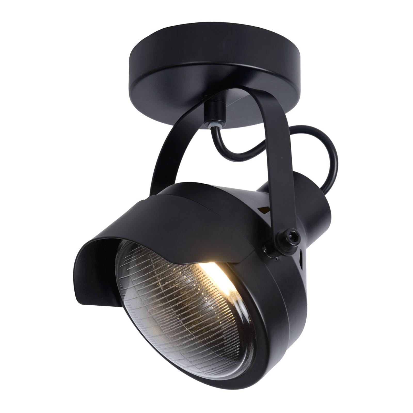 Plafondspot Cicleta, zwart, 1-lamp