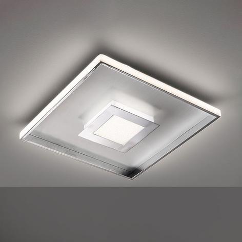 Bug-LED-kattovalo, neliönmuot. kromia