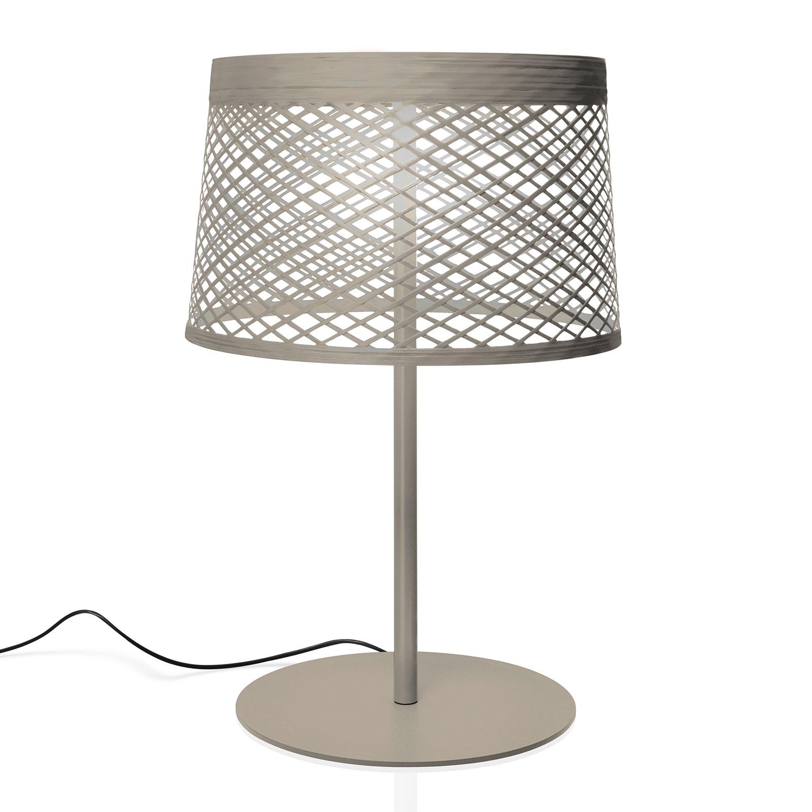 Foscarini Twiggy Grid XL LED da tavolo, greige