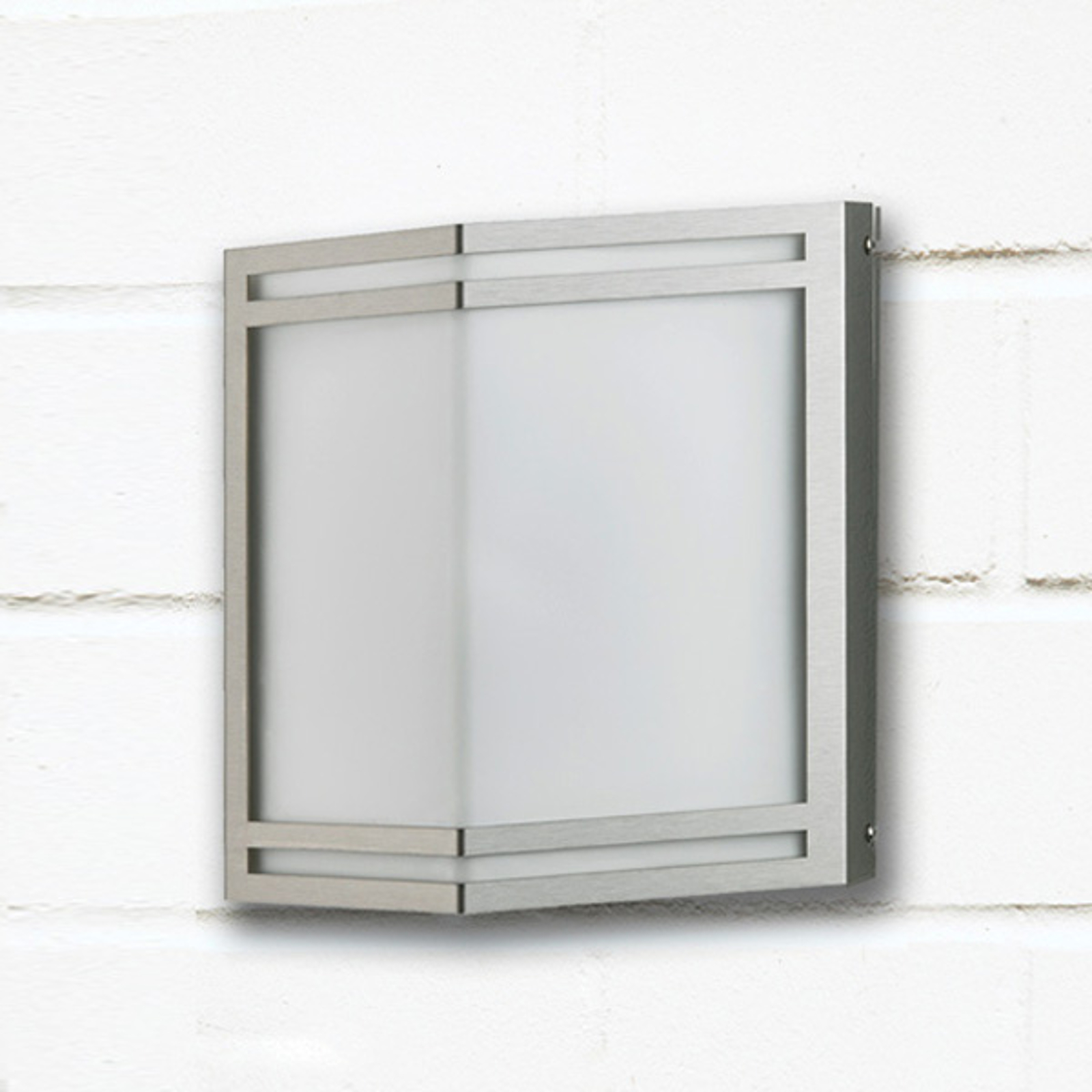 Van roestvrijstaal - LED buitenwandlamp Dobrin