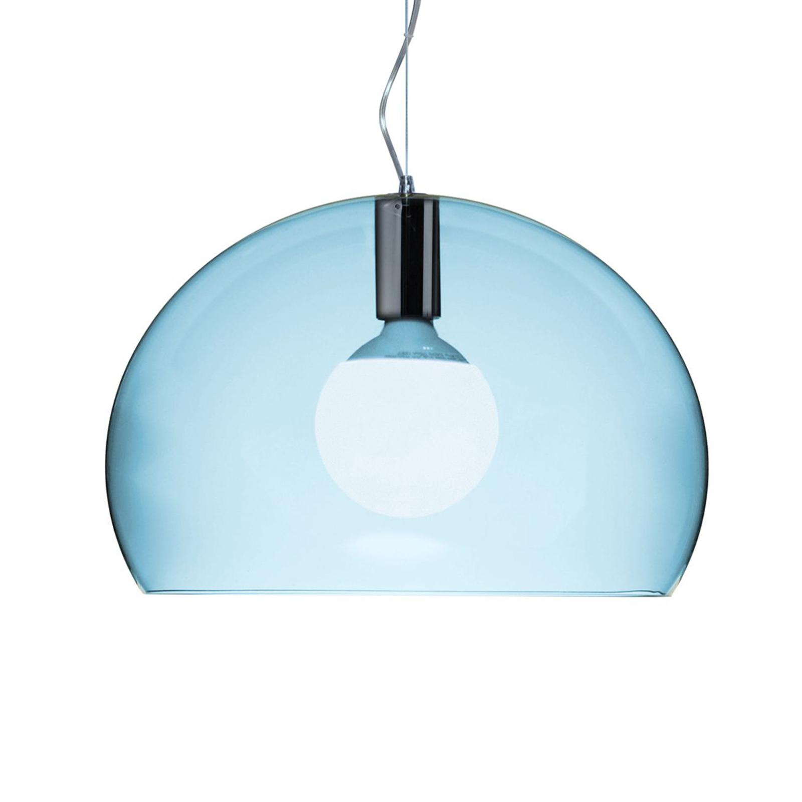 Kartell Small FL/Y LED-Hängeleuchte wolkenblau
