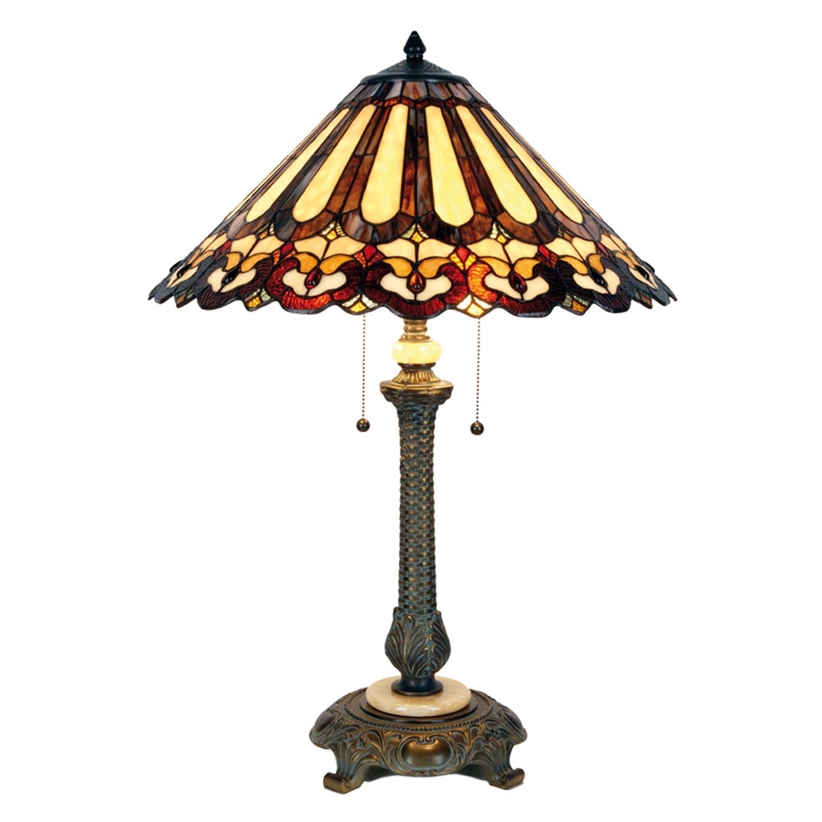 Lampada da tavolo Cecilia in stile Tiffany