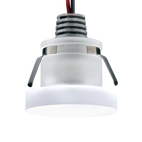 LED-Einbauspot Cristalin, rund, IP44