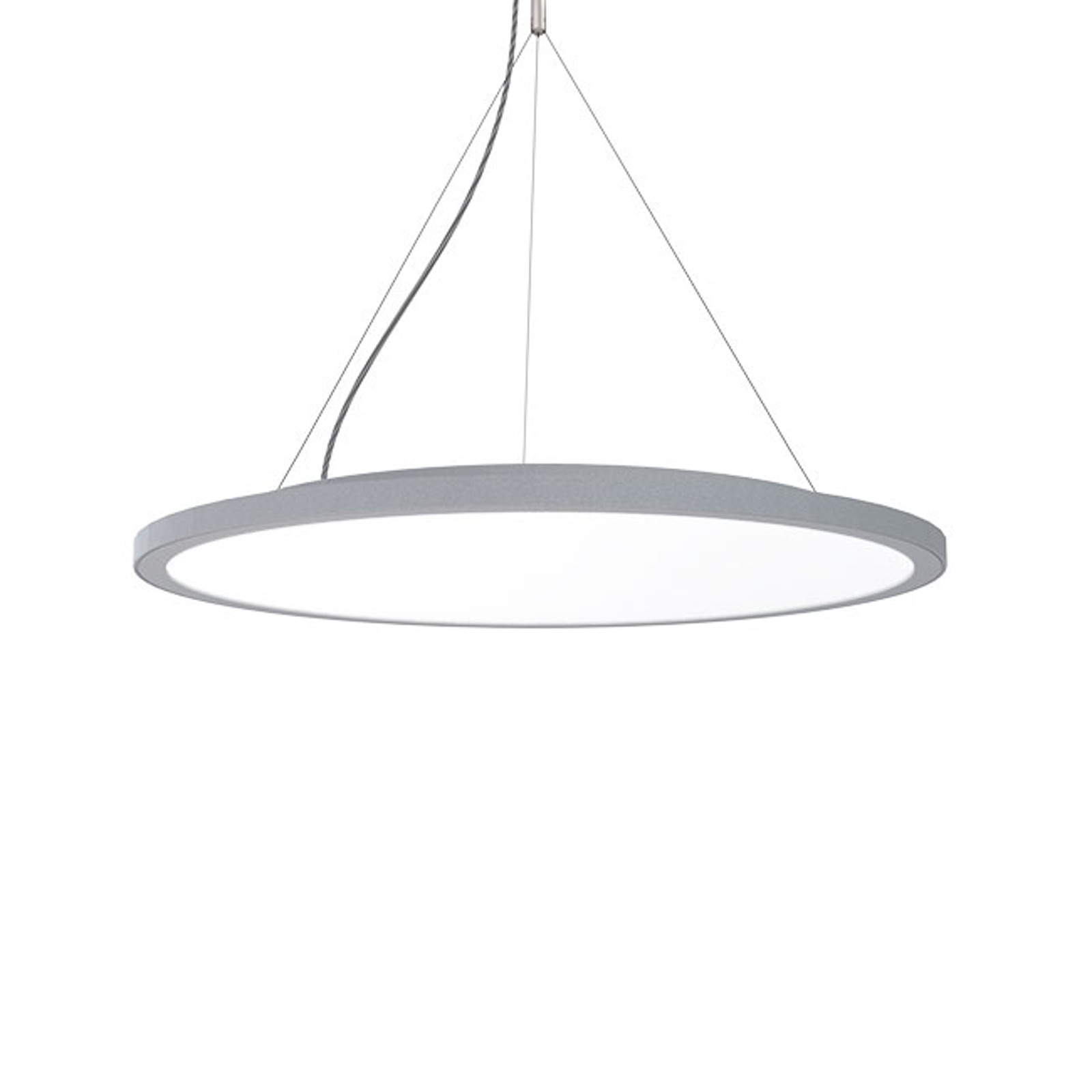 Hanglamp C95-P Circle grijs DALI-dim, 4.000K, 39W