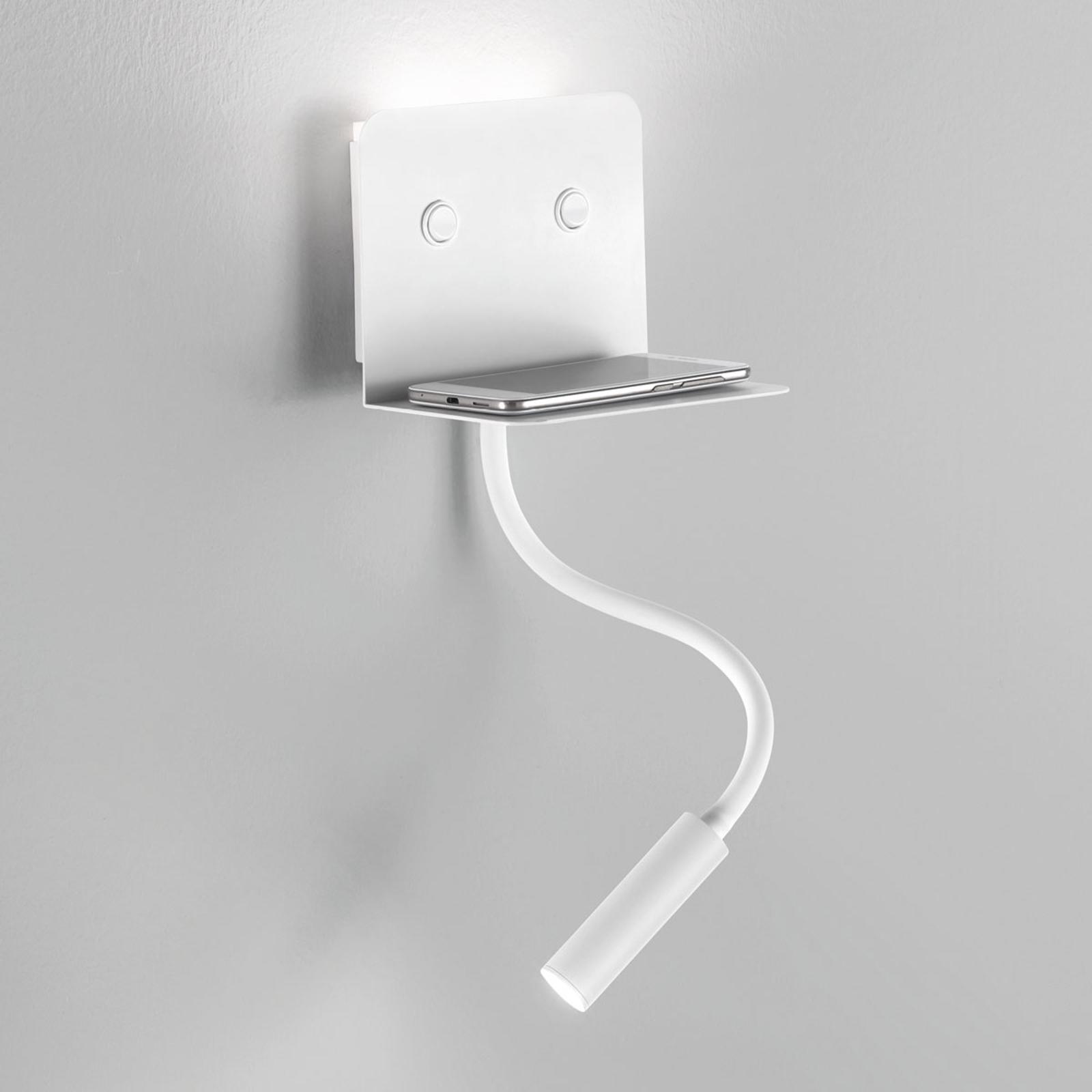 LED wandlamp Level met opbergvak en leeslamp