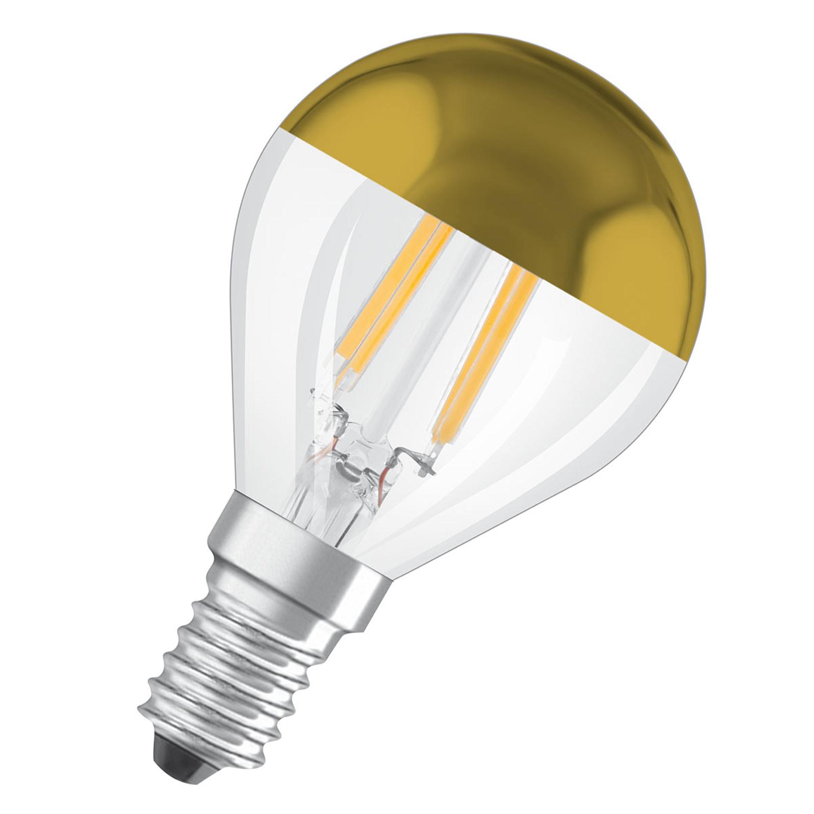 OSRAM LED-pære E14 Mirror CLP guld 4W 2.700K