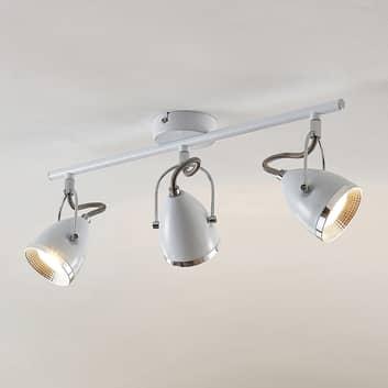 Lindby Jadon LED-Deckenstrahler weiß 3-flg. lang