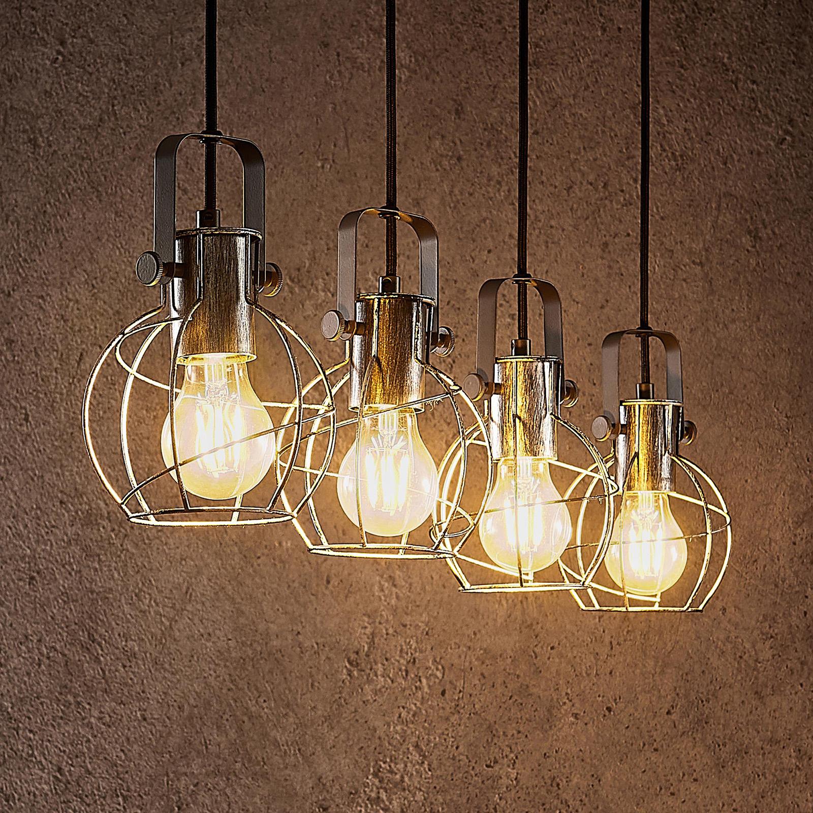 Lindby Salima lámpara colgante, jaula, 4 luces