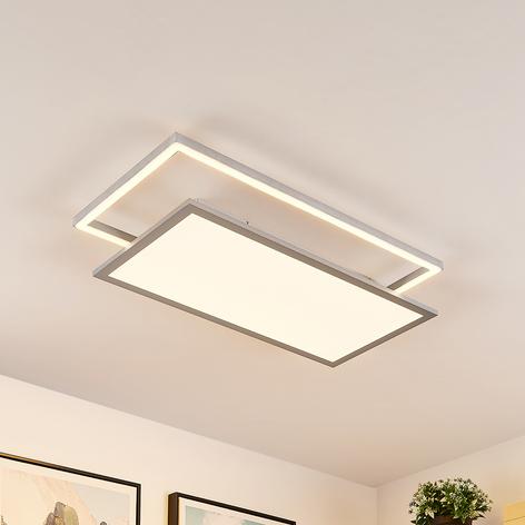 Lucande Senan LED plafondlamp, rechthoeken, CCT