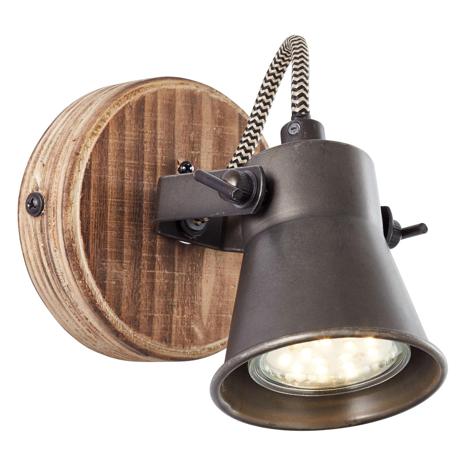 Reflektor ścienny Seed czarny
