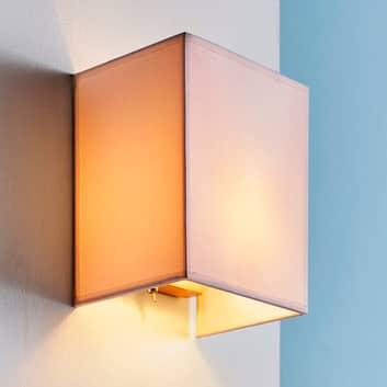 Annalisa - lampada da parete quadrata in tessuto